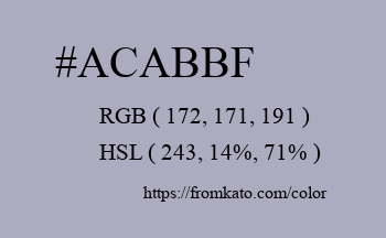 Color: #acabbf