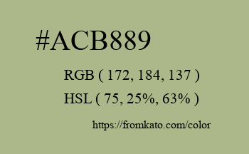 Color: #acb889