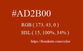 Color: #ad2b00
