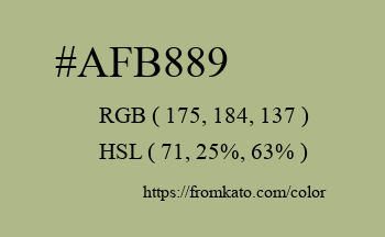 Color: #afb889