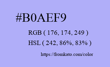 Color: #b0aef9