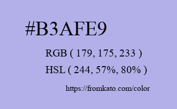 Color: #b3afe9