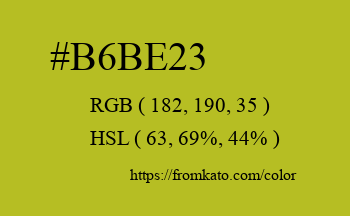 Color: #b6be23