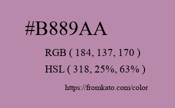 Color: #b889aa