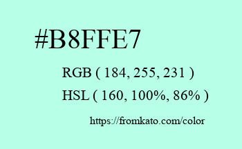 Color: #b8ffe7