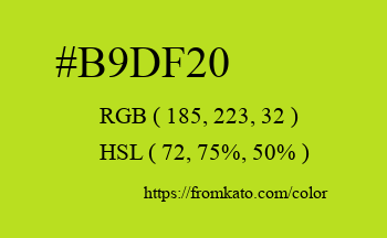 Color: #b9df20