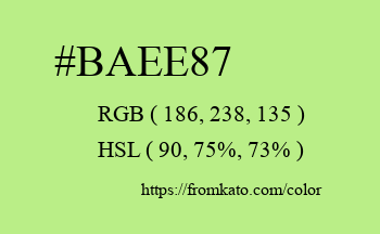 Color: #baee87
