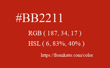 Color: #bb2211