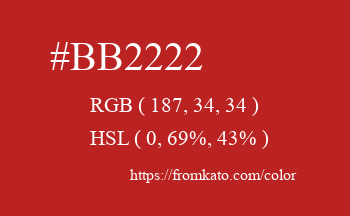 Color: #bb2222