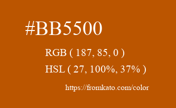 Color: #bb5500