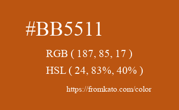 Color: #bb5511