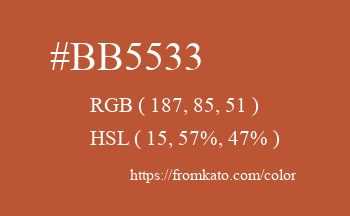 Color: #bb5533