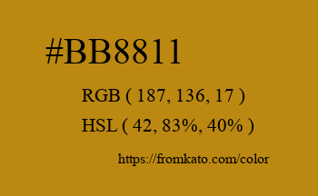Color: #bb8811