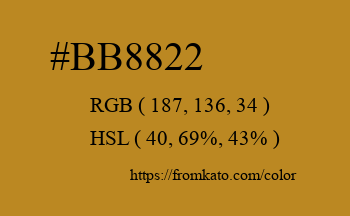 Color: #bb8822