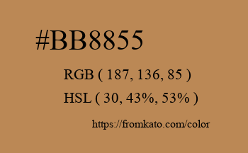 Color: #bb8855