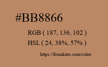 Color: #bb8866