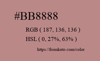 Color: #bb8888