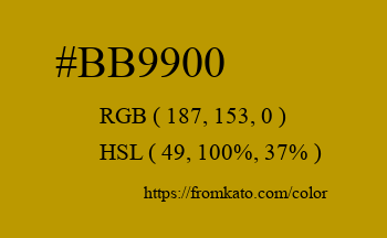 Color: #bb9900