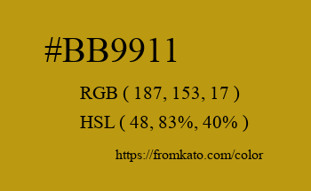 Color: #bb9911