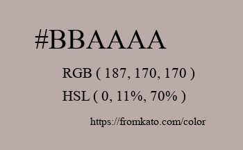 Color: #bbaaaa