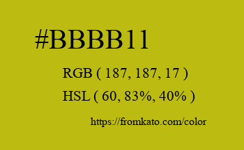 Color: #bbbb11