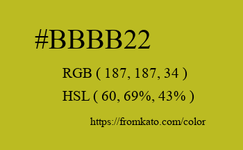 Color: #bbbb22