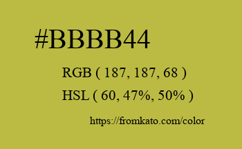 Color: #bbbb44