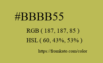 Color: #bbbb55
