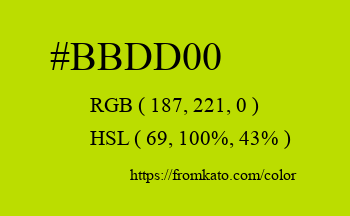 Color: #bbdd00