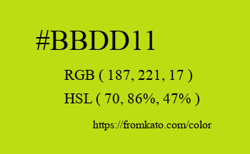 Color: #bbdd11