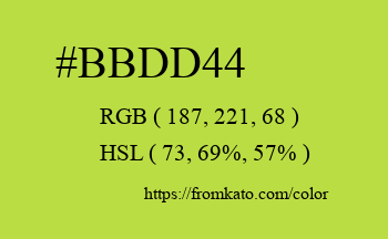 Color: #bbdd44