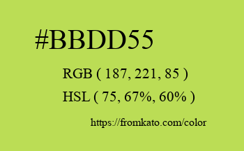 Color: #bbdd55