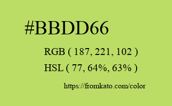 Color: #bbdd66