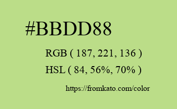 Color: #bbdd88