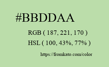 Color: #bbddaa