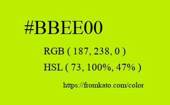 Color: #bbee00