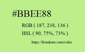 Color: #bbee88