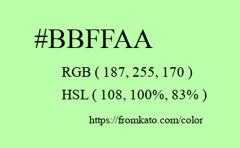Color: #bbffaa