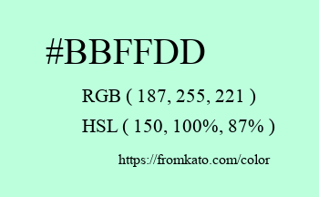 Color: #bbffdd
