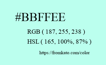 Color: #bbffee