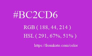 Color: #bc2cd6