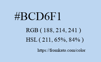 Color: #bcd6f1