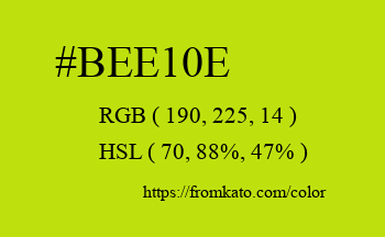 Color: #bee10e