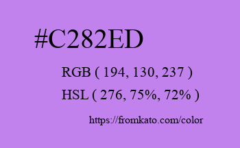 Color: #c282ed