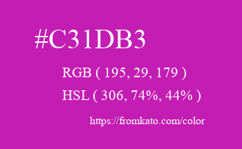 Color: #c31db3