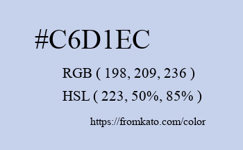 Color: #c6d1ec