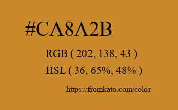 Color: #ca8a2b