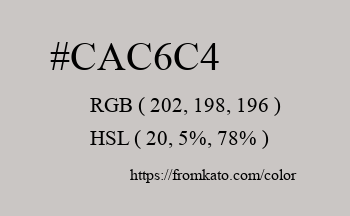 Color: #cac6c4