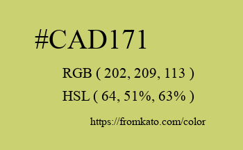 Color: #cad171