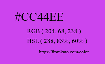 Color: #cc44ee